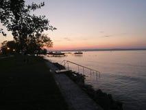 Sunset by Balaton stock image