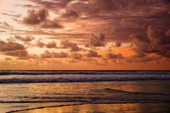 Sunset of Bali Royalty Free Stock Images