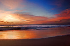 Sunset of Bali Royalty Free Stock Photography
