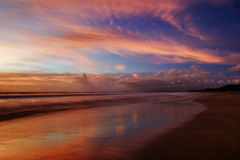 Sunset of Bali Stock Photo