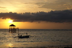 The Sunset of Bali royalty free stock image