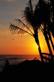 Sunset at Bali beach Royalty Free Stock Image