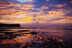 Sunset in Bali. Sunset on the beach in Bali Royalty Free Stock Photos