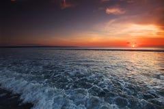 Sunset on Bali Stock Image