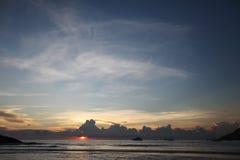 Sunset on Bali Stock Photography