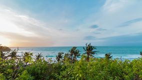 Sunset at Bali, Indonesia time-lapse, Sunset at Bali time-lapse. Moving panorama time lapse. Asia. stock footage