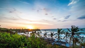 Sunset at Bali, Indonesia time-lapse, Sunset at Bali time-lapse. Panorama time lapse. Asia. stock footage