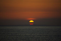 Sunset on Bali island. This is a beautiful sunset on the Indian sea royalty free stock photography