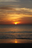 Sunset in Bali Island Stock Images