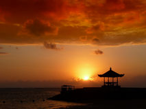 Sunset in bali Royalty Free Stock Photography