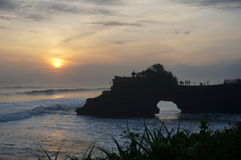 Sunset in Bali. Sunset from Tanah Lot viewpoint Stock Photo