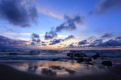 Sunset. The Baltic coast at sunset Royalty Free Stock Photo