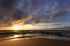 Sunset. The Baltic coast at sunset Stock Image