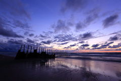 Sunset. The Baltic coast at sunset Stock Photography