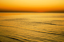 Sunset in the Baltic sea Stock Image