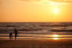 Sunset in Baltic sea Royalty Free Stock Photography