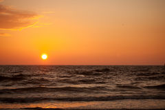 Sunset in Baltic sea Royalty Free Stock Photos
