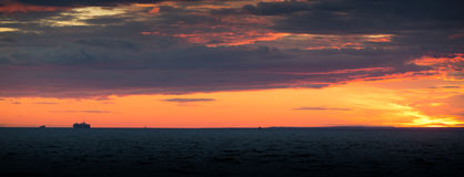 Sunset on the Baltic sea Royalty Free Stock Photos