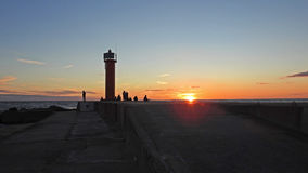 Sunset on Baltic Sea coast. Royalty Free Stock Photo