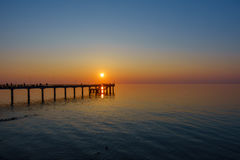 Sunset on Baltic sea coast Royalty Free Stock Photography
