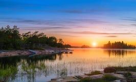 Sunset on Baltic sea Royalty Free Stock Photos