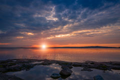 Sunset on Baltic sea Royalty Free Stock Photos