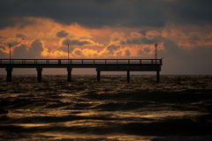 Sunset in the Baltic sea. Dramatic sunset in the Baltic sea Stock Image