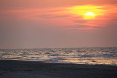 Sunset at the Baltic Sea Stock Images
