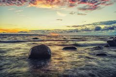Sunset on the Baltic Sea Royalty Free Stock Photo