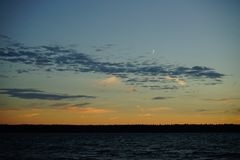 Sunset on the Baltic Sea Stock Photography