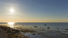 Sunset at the baltic sea royalty free stock image
