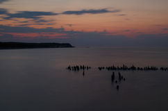 Sunset at the baltic sea in germany Stock Photos
