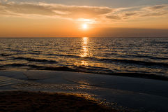 Sunset Baltic sea Stock Images