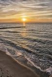 Sunset Baltic Sea Stock Image