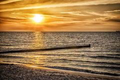 Sunset Baltic Sea. Image of sunset at Baltic Sea in Germany Stock Photos