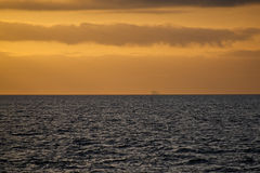 Sunset in the Baltic sea Royalty Free Stock Image