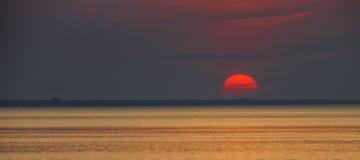 Sunset at the Baltic sea,Jurmala Stock Image