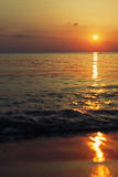 Sunset. By the Baltic sea, Lithuania stock image