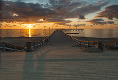Sunset at the  Baltic sea,Palanga Royalty Free Stock Image