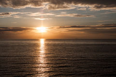 Sunset on the Baltic Sea Royalty Free Stock Photography