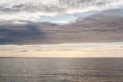 Sunset on the Baltic Sea Stock Photo