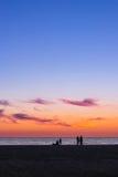 Sunset at Baltic sea in resort Palanga, Lithuania Stock Photos