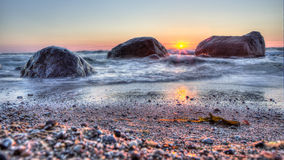 Sunset on the Baltic Sea Royalty Free Stock Image