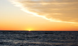Sunset in the Balticsea Stock Image