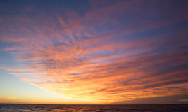 Sunset in the Balticsea Royalty Free Stock Images