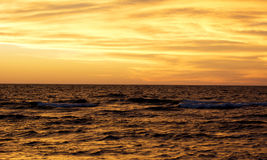 Sunset in the Balticsea Royalty Free Stock Photography