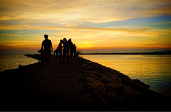 Sunset at Bamampur beach Thailand Royalty Free Stock Image