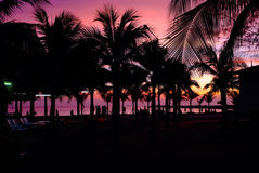 Sunset at Bamampur beach Thailand Royalty Free Stock Images