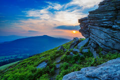 Sunset from Bamford Edge Stock Image