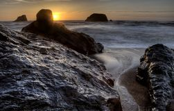 Sunset Bandon Oregon Royalty Free Stock Image